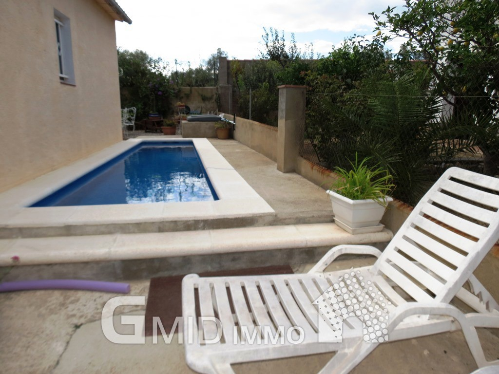 Casa en planta baja con piscina y garaje roses costa brava inmuebles gmid immo - Casas planta baja ...