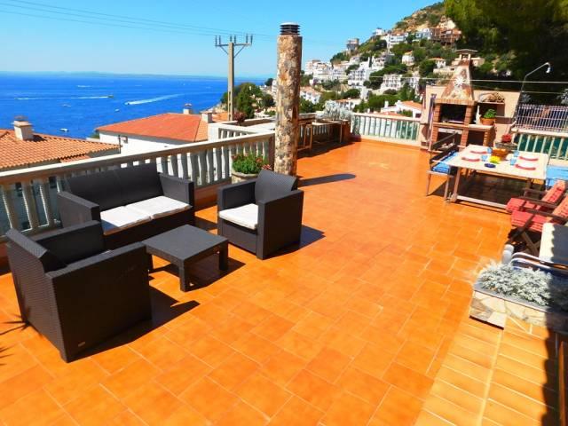 Casa de vacaciones con vistas al mar a 250 metros de la cala Canyelles, Roses